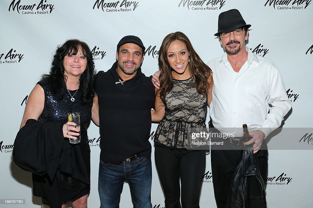 Melissa Gorga and Joe Gorga guest host at Gypsies Lounge in Mount Airy Casino Resort on January 19, 2013 in Mount Pocono, Pennsylvania.