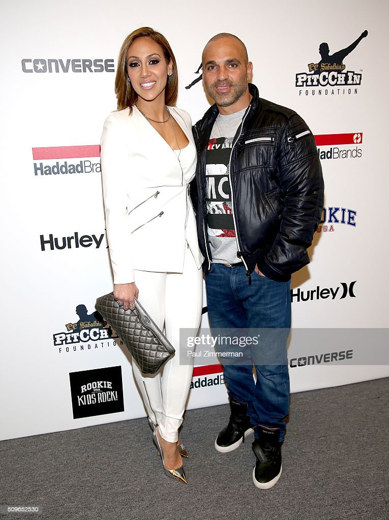 Melissa Gorga and Joe Gorga pose backstage at the Rookie USA Presents Kids Rock Front Row Backstage Fall 2016 New York Fashion Week The Shows at...