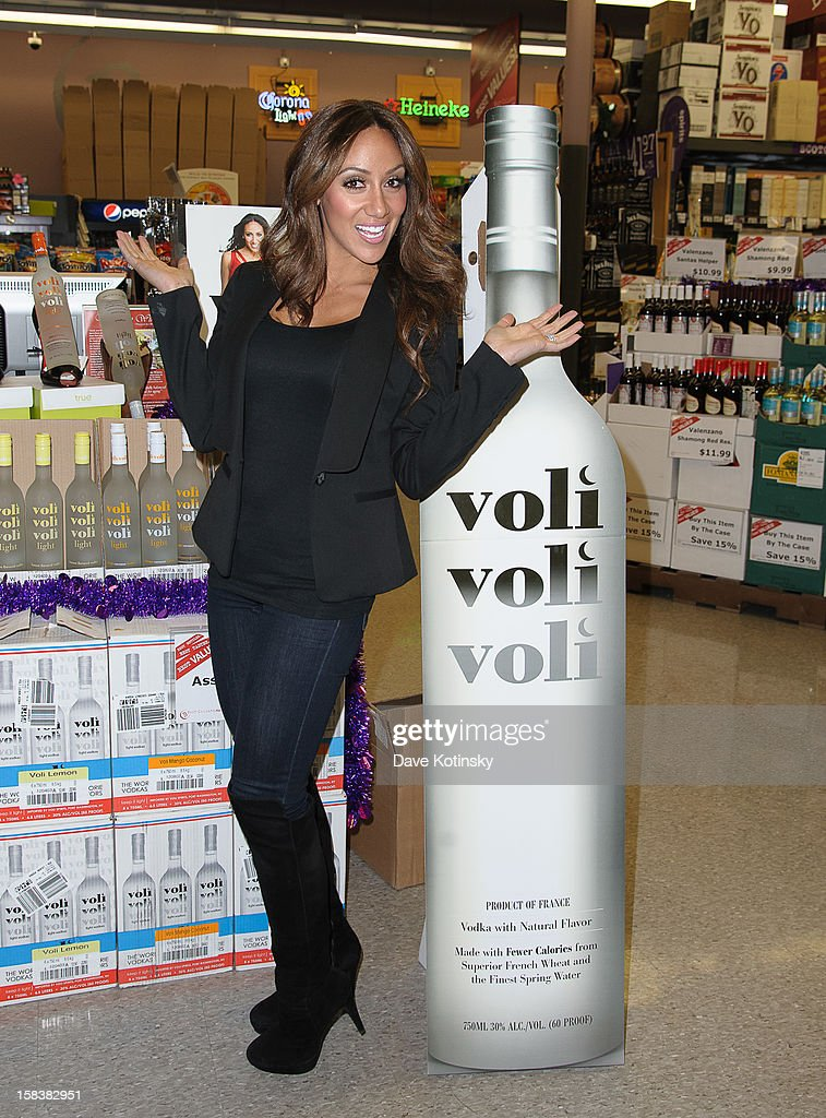 Melissa Gorga attends Voli Light Vodka Event With Melissa Gorga at Best Cellars on December 14, 2012 in Ledgewood, New Jersey.