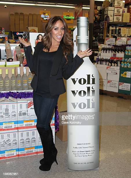 Melissa Gorga attends Voli Light Vodka Event With Melissa Gorga at Best Cellars on December 14 2012 in Ledgewood New Jersey