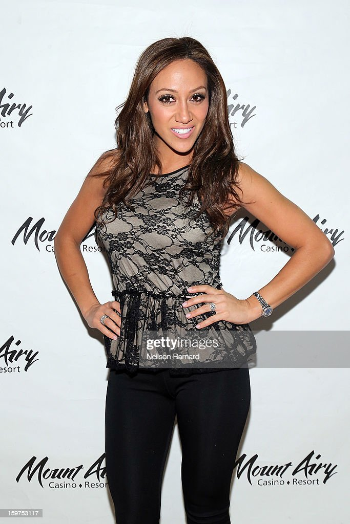 Melissa Gorga guest hosts at Gypsies Lounge in Mount Airy Casino Resort on January 19, 2013 in Mount Pocono, Pennsylvania.