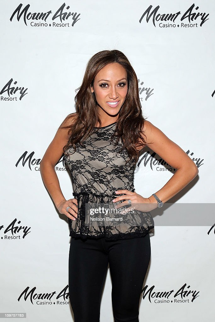 <a gi-track='captionPersonalityLinkClicked' href=/galleries/search?phrase=Melissa+Gorga&family=editorial&specificpeople=7306775 ng-click='$event.stopPropagation()'>Melissa Gorga</a> guest hosts at Gypsies Lounge in Mount Airy Casino Resort on January 19, 2013 in Mount Pocono, Pennsylvania.