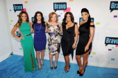 Melissa Gorga Jacqueline Laurita Caroline Manzo Kathy Wakile and Teresa Giudice of 'The Real Housewives of New Jersey' attend the 2013 Bravo New York...