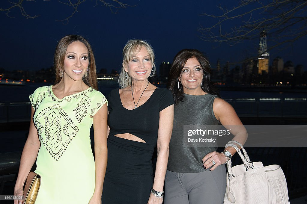 <a gi-track='captionPersonalityLinkClicked' href=/galleries/search?phrase=Melissa+Gorga&family=editorial&specificpeople=7306775 ng-click='$event.stopPropagation()'>Melissa Gorga</a>, Kim Depaola and Kathy Wakille attend 'Little Town NJ' Restaurant Opening Hosted By The Manzo Brothers at Little Town NJ Restaurant on April 9, 2013 in Hoboken, New Jersey.