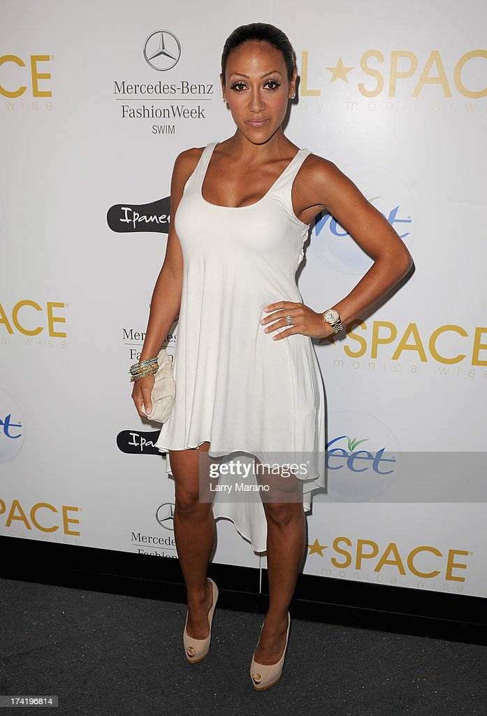<a gi-track='captionPersonalityLinkClicked' href=/galleries/search?phrase=Melissa+Gorga&family=editorial&specificpeople=7306775 ng-click='$event.stopPropagation()'>Melissa Gorga</a> poses backstage at the L*Space By Monica Wise show during Mercedes-Benz Fashion Week Swim 2014 at Cabana Grande at the Raleigh on July 21, 2013 in Miami, Florida.
