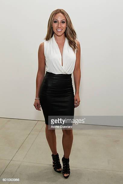 Melissa Gorga poses backstage at the Misha Collection during New York Fashion Week The Shows September 2016 at The Gallery Skylight at Clarkson Sq on...