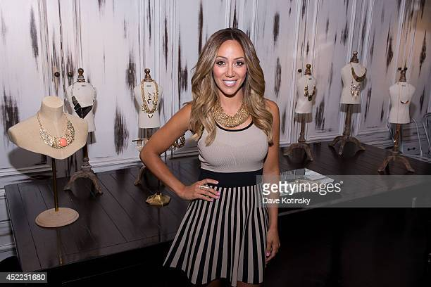 Melissa Gorga Previews The Melissa Gorga Jewelry Collection For HSN at Hey Doll Showroom on July 16 2014 in New York City