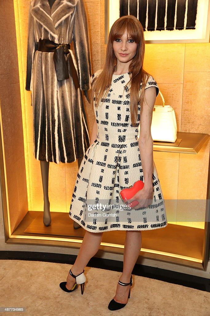 Melissa Hamilton attends the Fendi Flagship store launch at Fendi on May 1, 2014 in London, England.