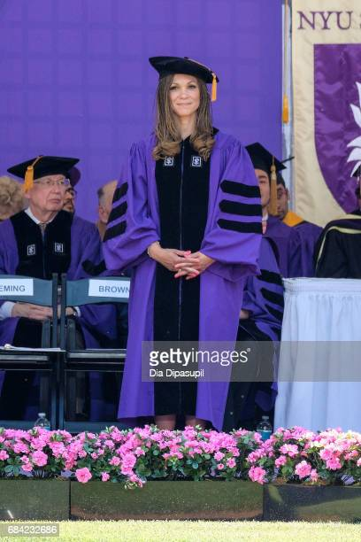Melissa HarrisPerry receives an honorary doctorate degree during the New York University 2017 Commencement at Yankee Stadium on May 17 2017 in the...