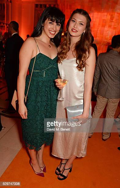 Melissa Hemsley and Danielle Copperman attend the Veuve Clicquot Business Woman Award at The Ballroom of Claridge's on May 9 2016 in London Englan