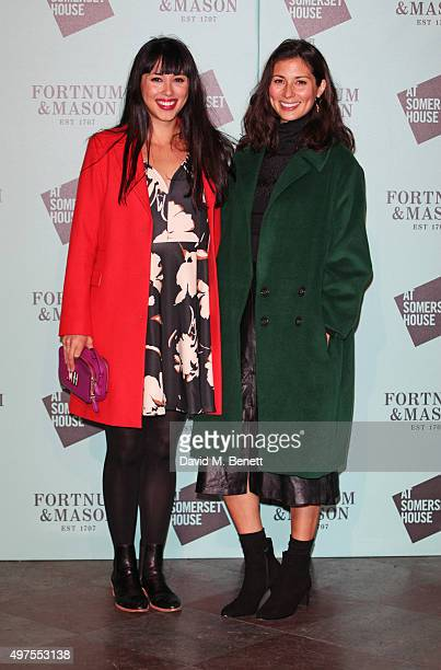 Melissa Hemsley and Jasmine Hemsley attend the opening party of Skate at Somerset House with Fortnum Mason at Somerset House on November 17 2015 in...