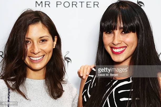 Melissa Hemsley and Jasmine Hemsley attend the summer dinner hosted by Harrys of London and Mr Porter at Burlington Arcade on July 8 2015 in London...