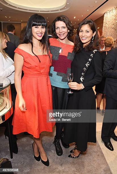 Melissa Hemsley Thomasina Miers and Jasmine Hemsley attend as Boodles celebrates the opening of their new Bond Street flagship with special guest...