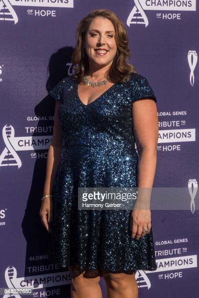 Melissa Hogan attends the Global Genes' 6th Annual Tribute To Champions Of Hope Awards at City National Grove of Anaheim on September 16 2017 in...