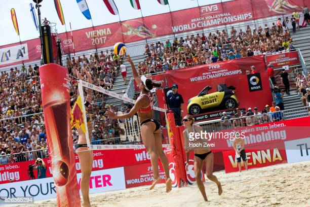 Melissa HumanaParedes of Canada in action during Day 8 of the FIVB Beach Volleyball World Championships 2017 during Day 8 of the FIVB Beach...
