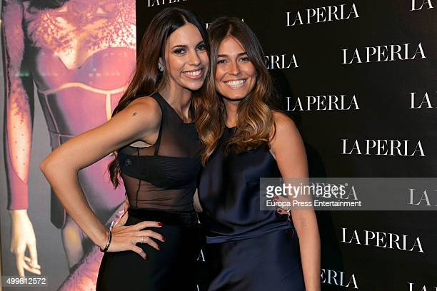 Melissa Jimenez and Coral Simanovich attend the 'La Perla' store opening at Palau Sant Jordi on November 26 2015 in Madrid Spain
