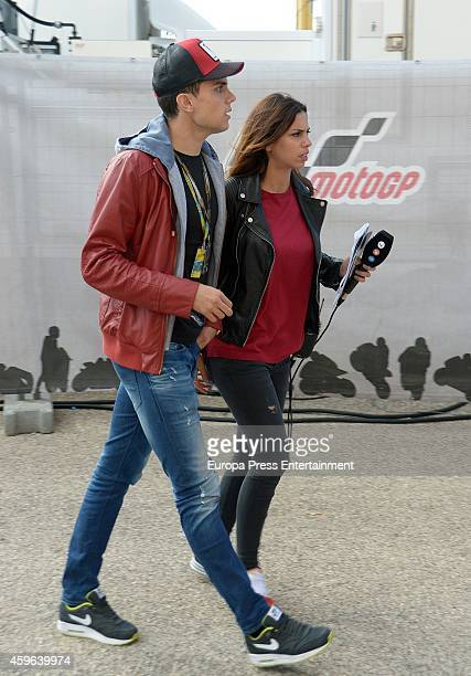 Melissa Jimenez and Marc Bartra attend MotoGP World Championship on November 09 2014 in Cheste Spain