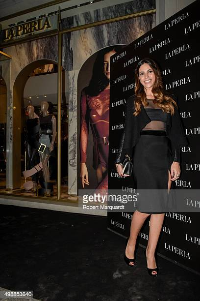 Melissa Jimenez poses during a photocall for the 'La Perla' store opening on November 26 2015 in Barcelona Spain