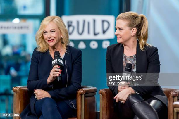 Melissa Joan Hart and Paula Hart discuss 'The Watcher in the Woods' with the Build Series at Build Studio on October 18 2017 in New York City