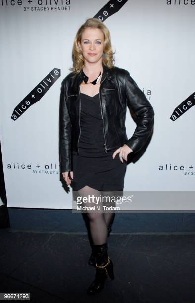 Melissa Joan Hart attends the Alice Olivia Fall 2010 presentation during MercedesBenz Fashion Week on February 13 2010 in New York City