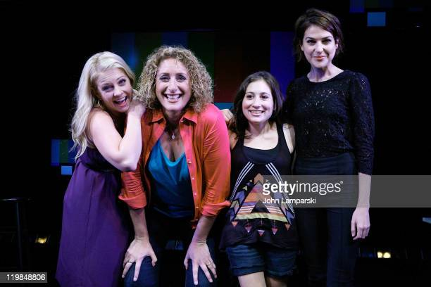 Melissa Joan Hart Judy Gold Lucy DeVito and Ashley Austin Morris visit 'The Judy Show My Life as a Sitcom' at DR2 Theater on July 25 2011 in New York...
