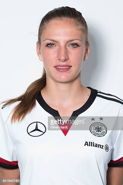 Melissa Koessler of Germany poses during the U16 Girl's Germany Team Presentation on June 21 2016 in Malente Germany