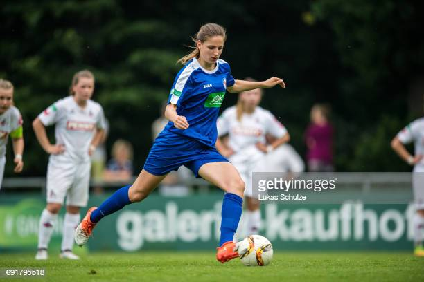 Melissa Koessler of Potsdam in action during the B Junior Girl's German Championship Semi Final match between 1 FC Koeln and 1 FFC Turbine Potsdam on...