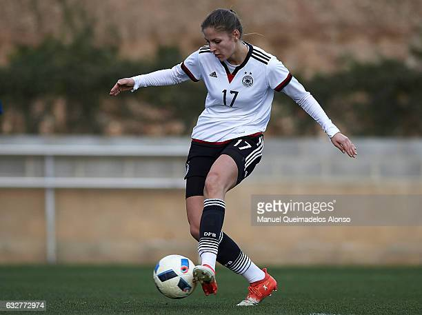 Melissa Kossler of Germany in action during the international friendly match between U17 Girl's Germany and U17 Girl's France at Complex Esportiu...