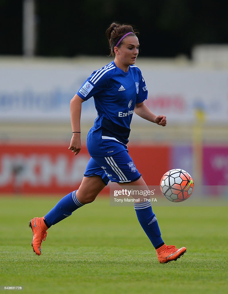 Melissa Lawley of Birmingham City Ladies during the WSL match between Birmingham City Ladies and Arsenal Ladies FC at Automated Technology Stadium on June 29, 2016 in Solihull, England.