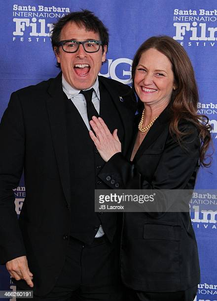 Melissa Leo and David O Russell attend the presentation of the Outstanding Director Award at the 29th Santa Barbara International Film Festival held...