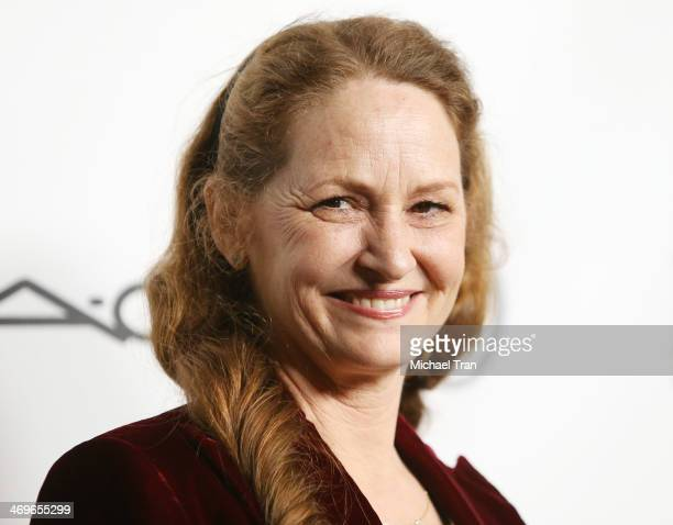 Melissa Leo arrives at The Annual MakeUp Artists and Hair Stylists Guild Awards held at Paramount Theater on the Paramount Studios lot on February 15...