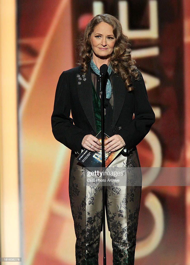 <a gi-track='captionPersonalityLinkClicked' href=/galleries/search?phrase=Melissa+Leo&family=editorial&specificpeople=2083907 ng-click='$event.stopPropagation()'>Melissa Leo</a> during the 65th Primetime Emmy Awards which will be broadcast live across the country 8:00-11:00 PM ET/ 5:00-8:00 PM PT from NOKIA Theater L.A. LIVE in Los Angeles, Calif., on Sunday, Sept. 22 on the CBS Television Network.
