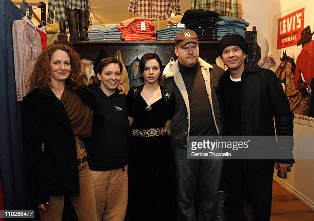 Melissa Leo Hilary Broughe Amber Tamblyn Jim Gaffigan and Timothy Hutton at 'Stephanie Daley' Premiere Party at Levi's Dry Goods