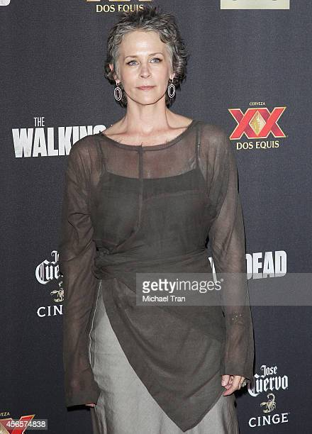 Melissa McBride arrives at AMC's 'The Walking Dead' Season 5 Premiere held at AMC Universal City Walk on October 2 2014 in Universal City California