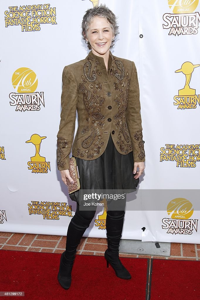 <a gi-track='captionPersonalityLinkClicked' href=/galleries/search?phrase=Melissa+McBride&family=editorial&specificpeople=9835108 ng-click='$event.stopPropagation()'>Melissa McBride</a> attends the 40th Annual Saturn Awards at The Castaway on June 26, 2014 in Burbank, California.
