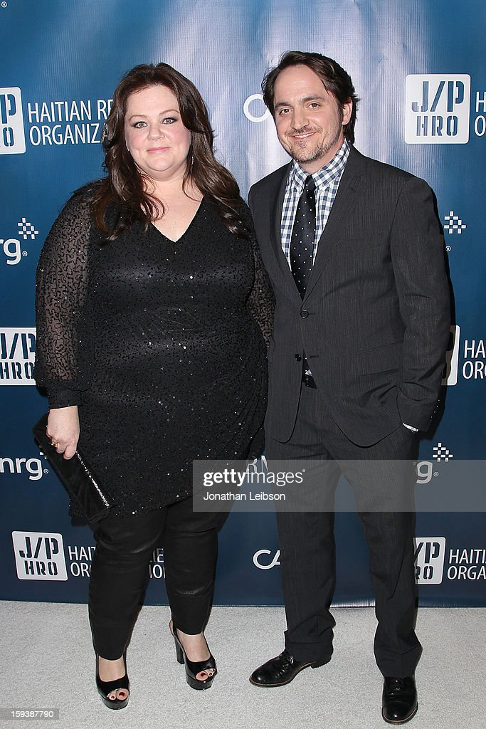 <a gi-track='captionPersonalityLinkClicked' href=/galleries/search?phrase=Melissa+McCarthy&family=editorial&specificpeople=880291 ng-click='$event.stopPropagation()'>Melissa McCarthy</a> and <a gi-track='captionPersonalityLinkClicked' href=/galleries/search?phrase=Ben+Falcone&family=editorial&specificpeople=4068633 ng-click='$event.stopPropagation()'>Ben Falcone</a> attend the 2nd Annual Sean Penn & Friends Help Haiti Home Presented By Giorgio Armani - A Gala To Benefit J/P HRO - Arrivals at Montage Beverly Hills on January 12, 2013 in Beverly Hills, California.