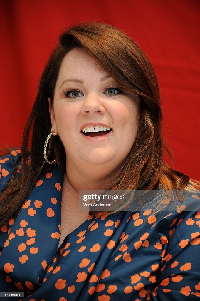 <a gi-track='captionPersonalityLinkClicked' href=/galleries/search?phrase=Melissa+McCarthy&family=editorial&specificpeople=880291 ng-click='$event.stopPropagation()'>Melissa McCarthy</a> at 'The Heat' Press Conference at the Ritz Carlton Hotel on June 23, 2013 in New York City.