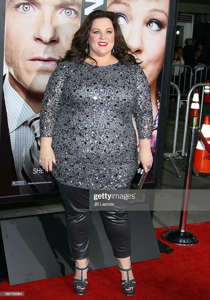 Melissa McCarthy attends the 'Identity Thief' Premiere held at Mann Village Theatre on February 4, 2013 in Westwood, California.