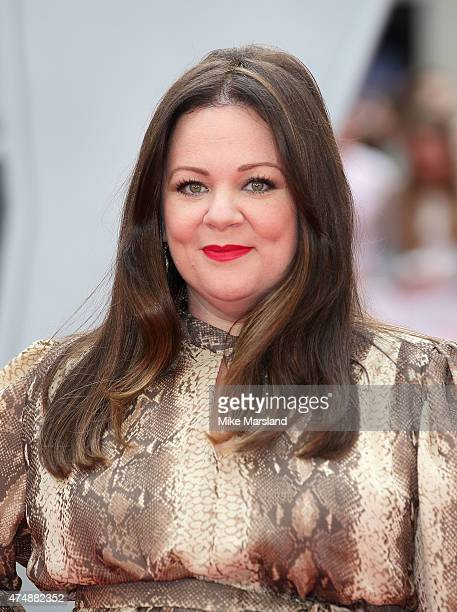 Melissa McCarthy attends the UK Premiere of 'Spy' at Odeon Leicester Square on May 27 2015 in London England