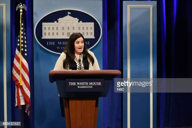 LIVE 'Melissa McCarthy' Episode 1724 Pictured Aidy Bryant as Principal Deputy White House Press Secretary Sarah Huckabee Sanders during 'Spicer...