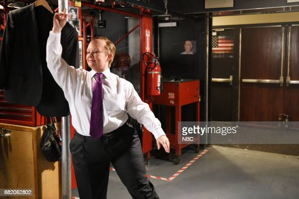 LIVE 'Melissa McCarthy' Episode 1724 Pictured Melissa McCarthy as Shawn Spicer poses for promos backstage in Studio 8H on May 9 2017