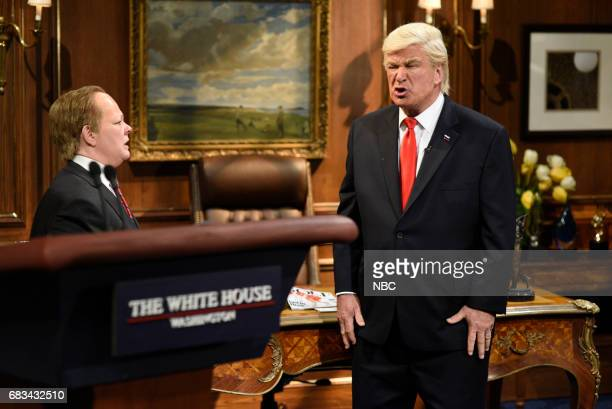 LIVE 'Melissa McCarthy' Episode 1724 Pictured Melissa McCarthy as White House Press Secretary Sean Spicer Alec Baldwin as President Donald Trump...