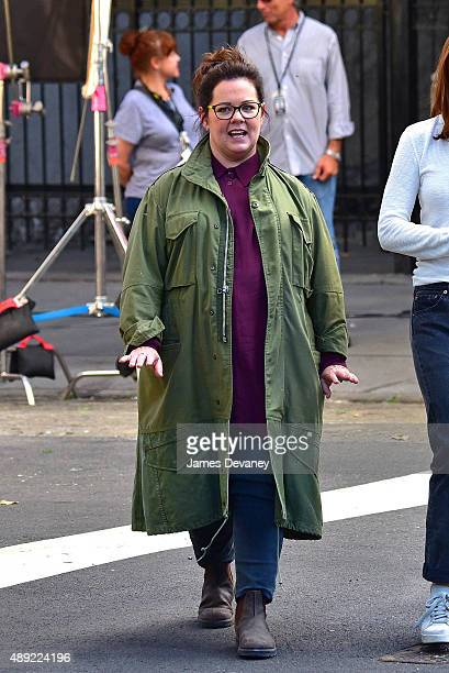 Melissa McCarthy seen on the set of 'Ghostbusters' in Tribeca on September 19 2015 in New York City