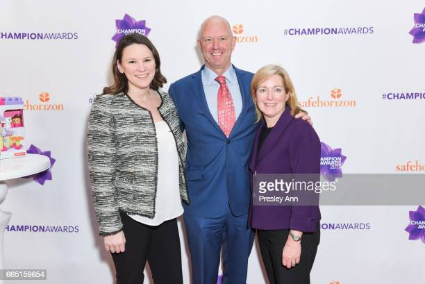 Melissa McNeaily Bob Borrow and Kelly Grady attend the Safe Horizons Champion Awards at Pier Sixty at Chelsea Piers on April 5 2017 in New York City