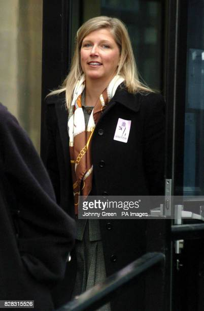 Melissa Miller arrives at the St Stephens entrance of the Houses of Parliament in central London Tuesday January 31 2006 Mrs Miller is involved in a...