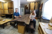 Melissa Neist and partner Sean Gorham of Urban Tree Salvage in Scarborough whose company transforms diseased trees into sustainable and beautiful...