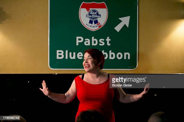 Melissa NewmanEvans spoke during the Boston Poetry Slam An open mic night and Boston Poetry Slam took place at the Cantab Lounge in Cambridge Mass on...