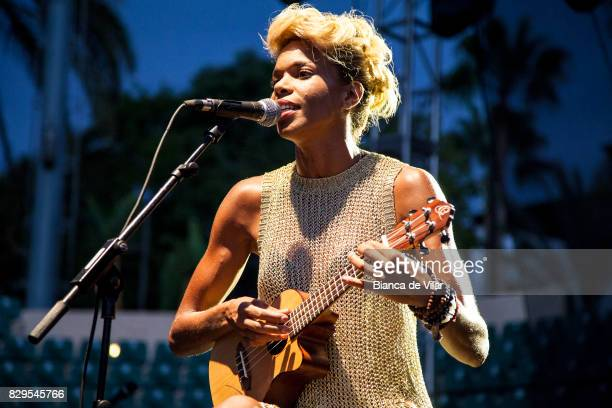 Melissa Nkonda performs on August 10 2017 in Marbella Spain