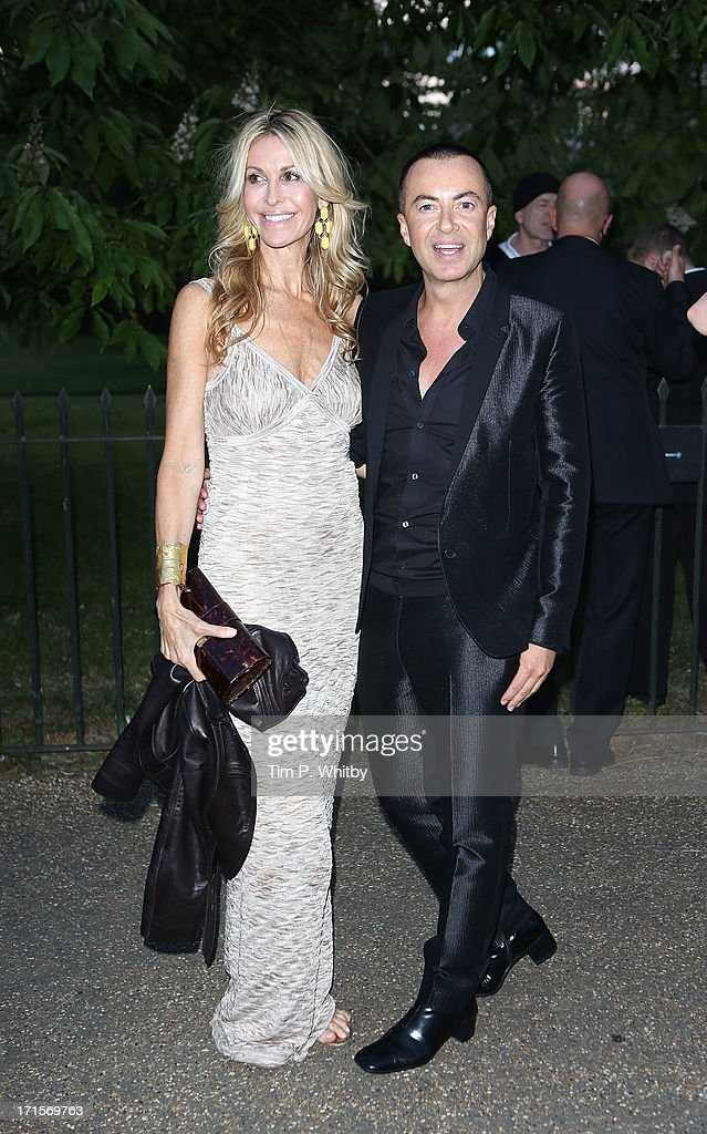 Melissa Odabash and Julien Macdonald attend the annual Serpentine Gallery summer party at The Serpentine Gallery on June 26, 2013 in London, England.