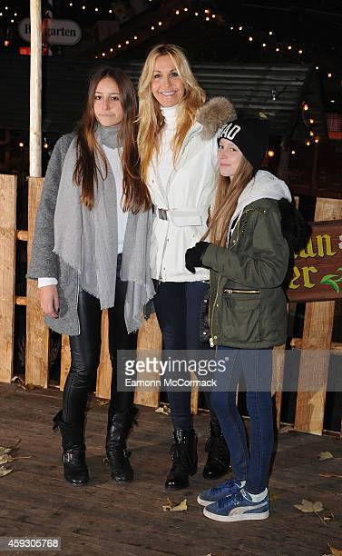 Melissa Odabash attends the Winter Wonderland VIP opening at Hyde Park on November 20 2014 in London England